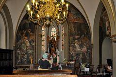 Schloss Burg, Mittelaltermarkt in der Kapelle