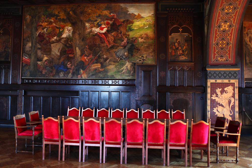 Schloss Burg - Speisesaal -