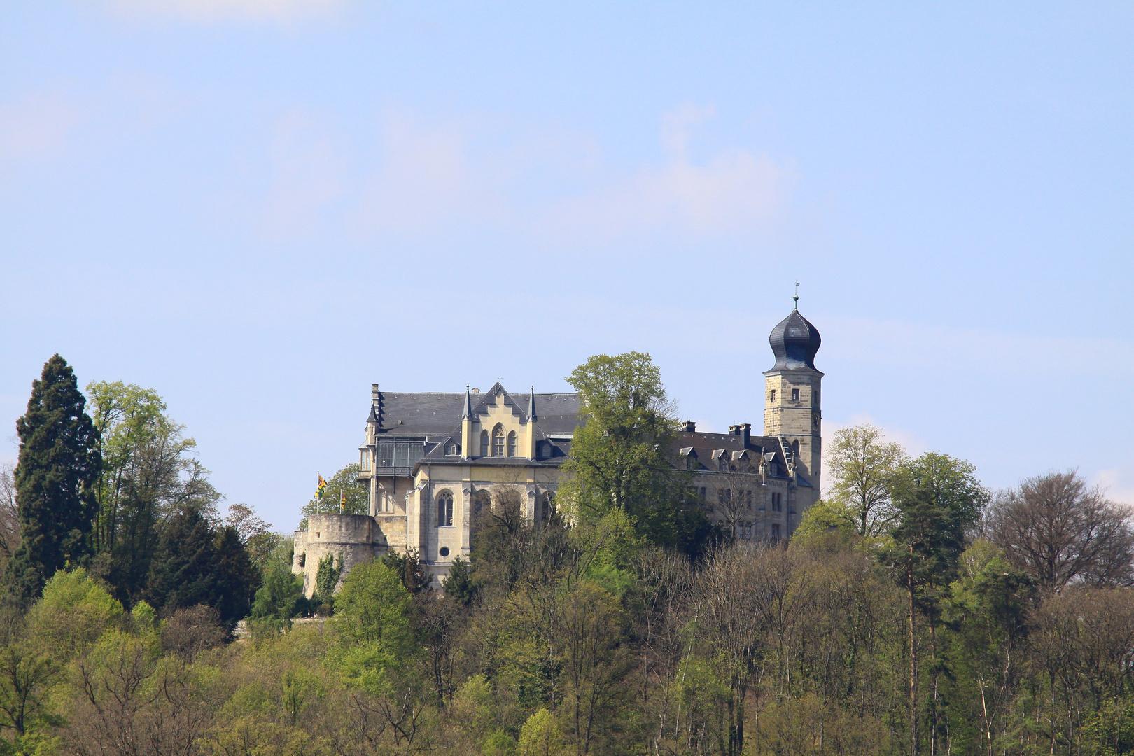 Schloss Callenberg aus Sicht des Goldbergsees