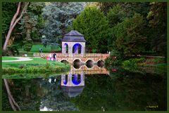 Schloss Dyck - Parkleuchten - Brücke am See