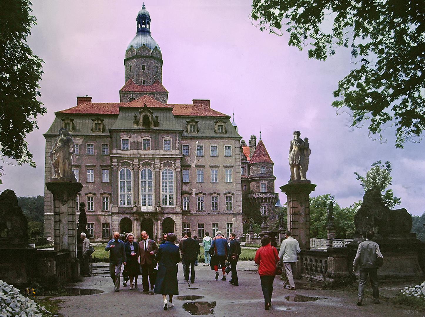 Schloss Fürstenstein ...... Polen 1984 (Dia-Scan)