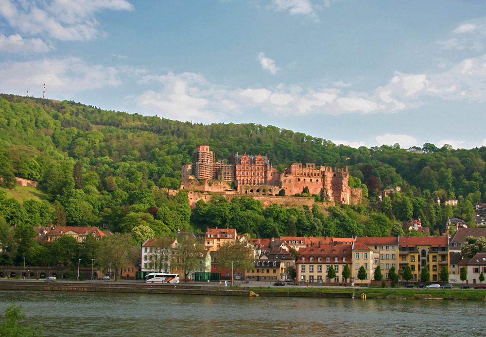Schloß Heidelberg heute in der Abendsonne