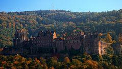 Schloß Heidelberg im Herbstlicht