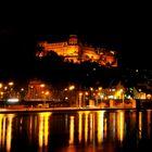 Schloss Heidelberg über der Schleuse