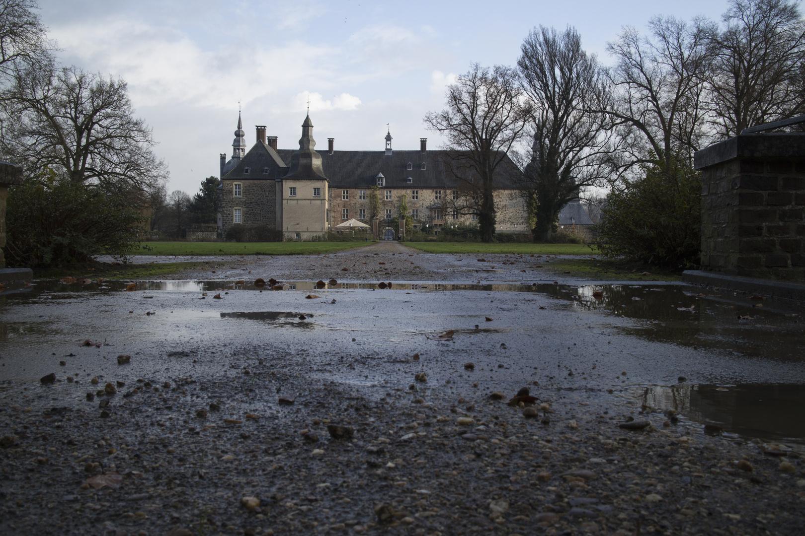 Schloss im Regen