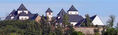 Schloß in Augustusburg mit einer Liebeserklärung unter dem dritten Bild