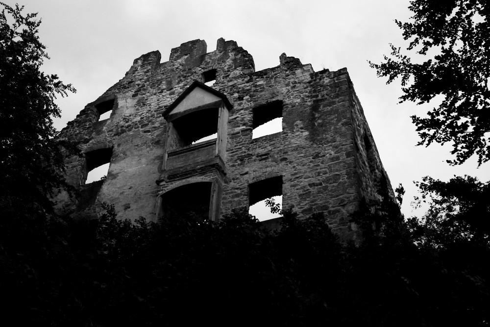 Schloss in s/w