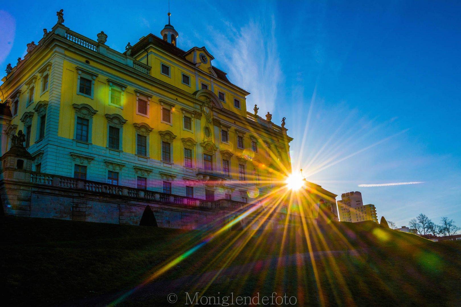 Schloss Ludwigsburg in der Abendsonne