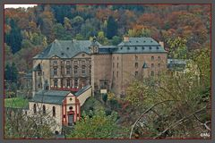 Schloss Malberg mit Schlosskapelle in der Eifel...
