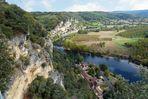 Schloss Marquessac - Blick auf La Roque-Gageac an der Dordogne