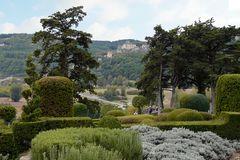 Schloss Marquessac - Blick vom Garten auf La Roque-Gageac