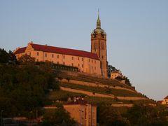 Schloss Melnik im Abendlicht.