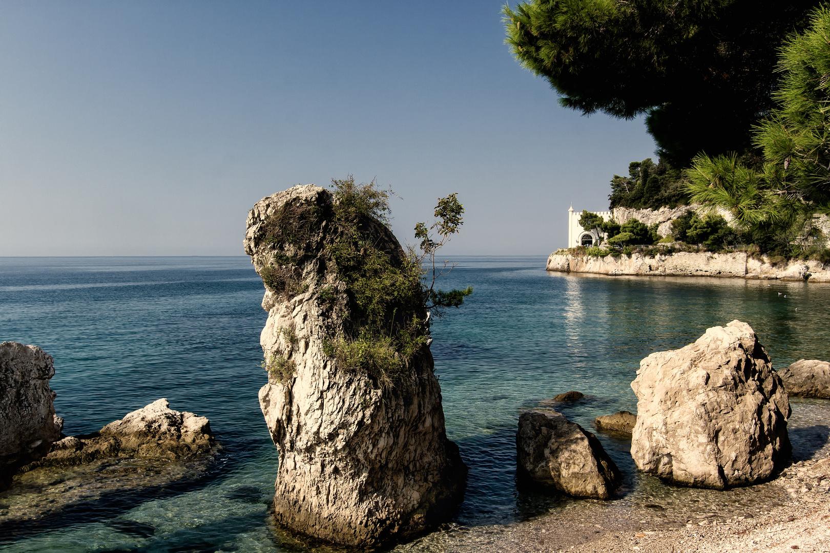 Schloss Miramar an der Adriatic