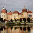 Schloss Moritzburg an einem drüben Tag