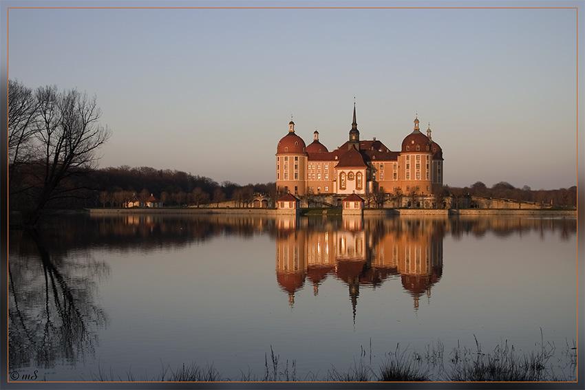 Schloss Moritzburg heute Abend