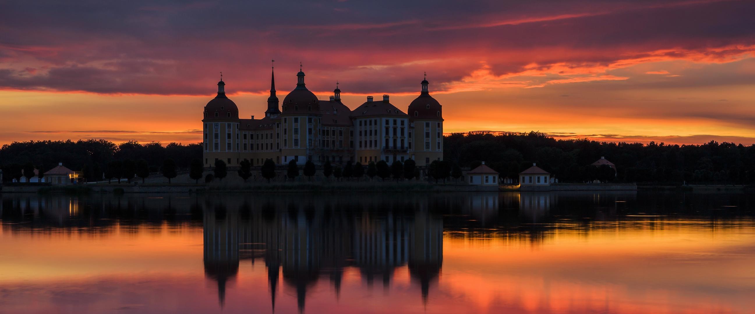 ~ Schloss Moritzburg im Abendlicht ~