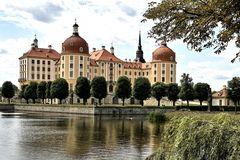 Schloss Moritzburg im Gegenlicht