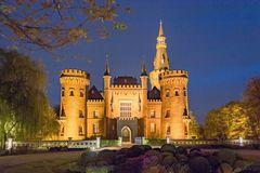 Schloss Moyland in der blauen Stunde