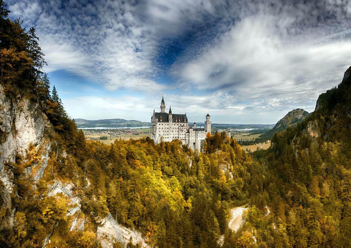 Schloss Neuschwanstein Foto Bild Natur Landschaft Architektur Bilder Auf Fotocommunity