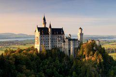 Schloss Neuschwanstein in der Abendsonne