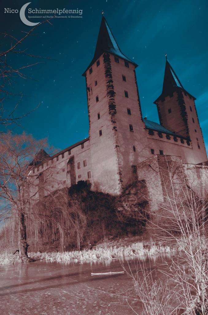 Schloß Rochlitz in der Nacht