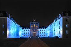 Schloss Saarbrücken illuminiert