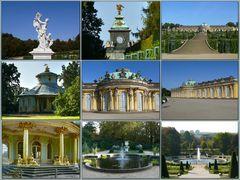 Schloß Sanssouci mit Park und Chinesischem Teehaus in Potsdam
