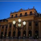 Schloss Schönbrunn in der Abenddämmereung
