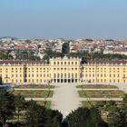 Schloss Schönbrunn und Blick auf Wien West