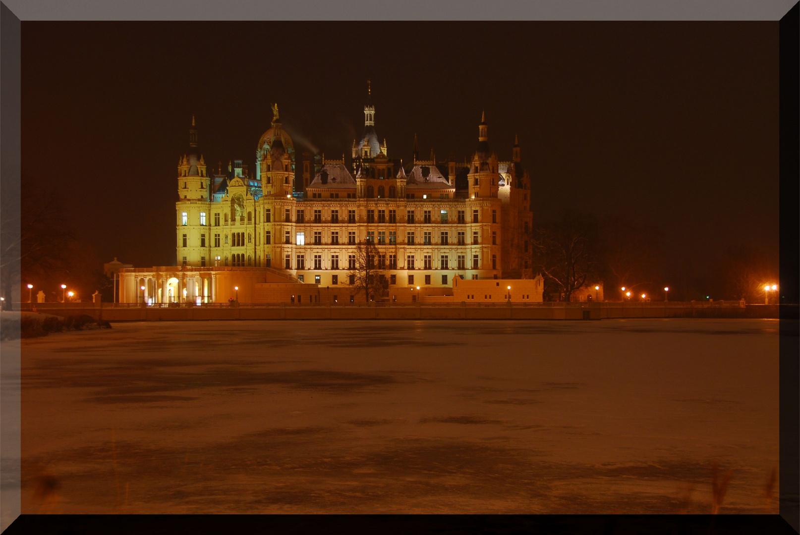 Schloss Schwerin im Wintertraum