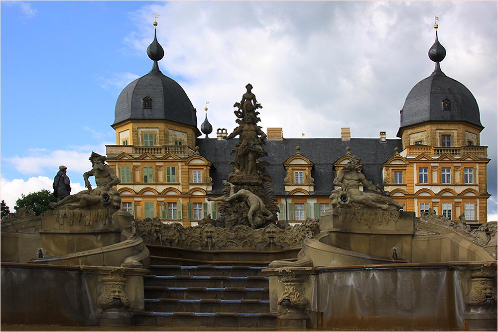 Schloss Seehof, die Rückseite