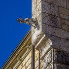 Schloss Sigmaringen der Wächter des Schlosses an einem sonnigen Wintertag