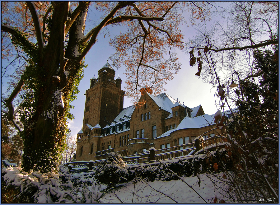 Schloss Waldthausen im Winter.
