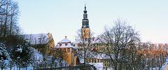 Schloss Wesenstein an einem eiskalten Februarmorgen...