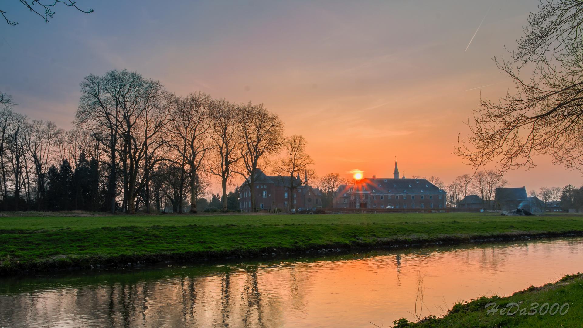 Schloss Wissen Sonnenuntergang