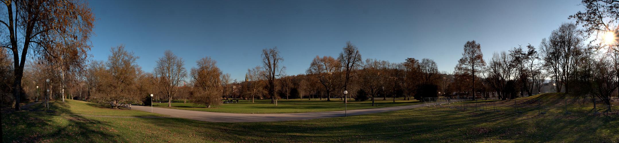 Schlossgarten Stuttgart - Blick vom Feldherrenhügel