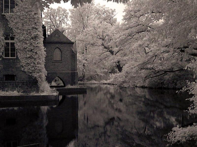 Schlossgraben in Infrarot