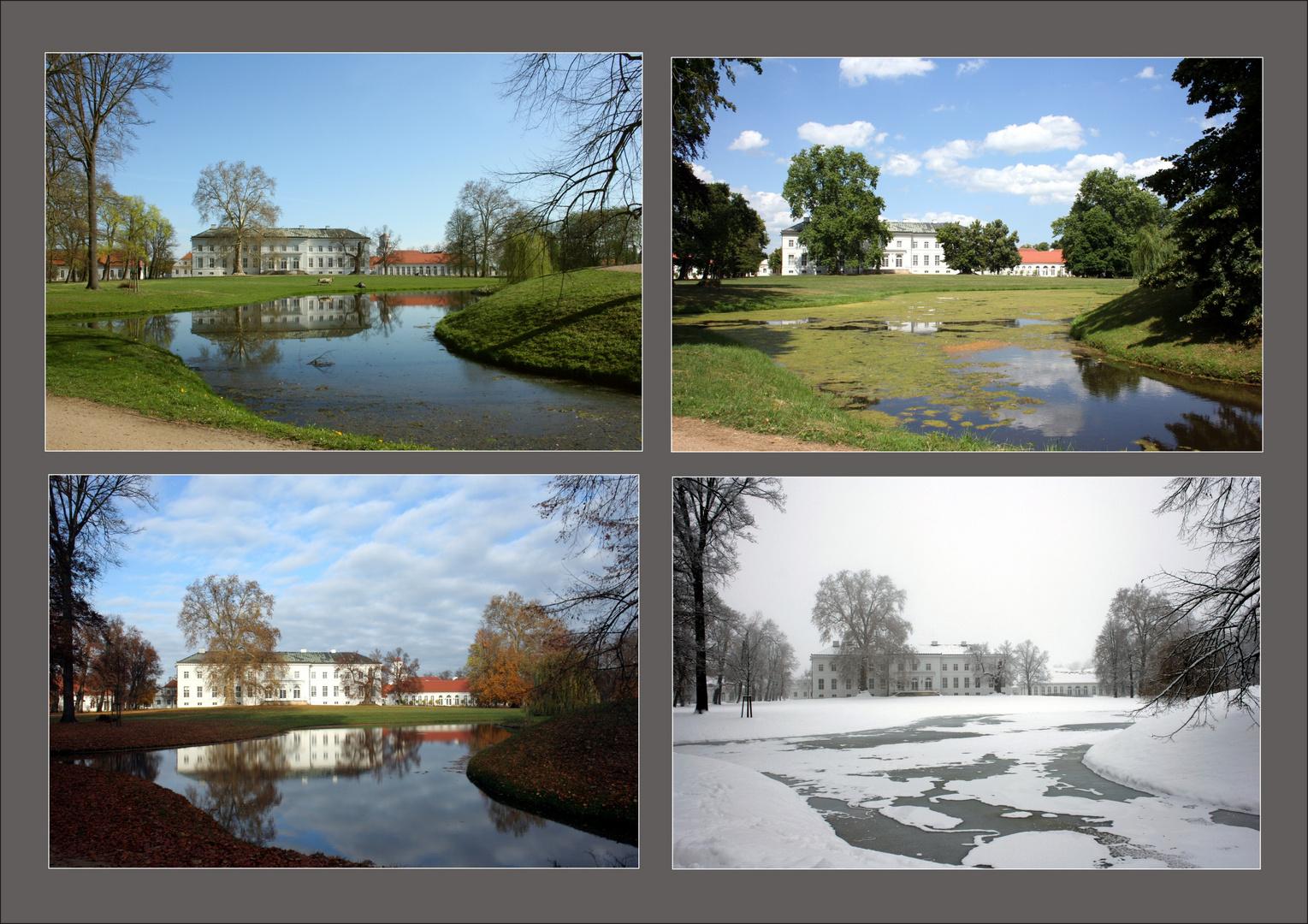 Schlosspark Neuhardenberg in vier Jahreszeiten