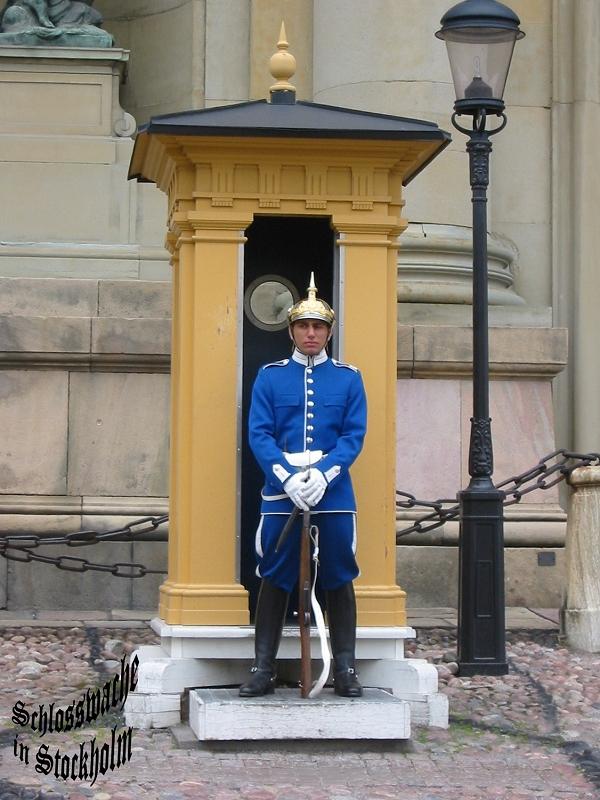 Schloßwache in Stockholm