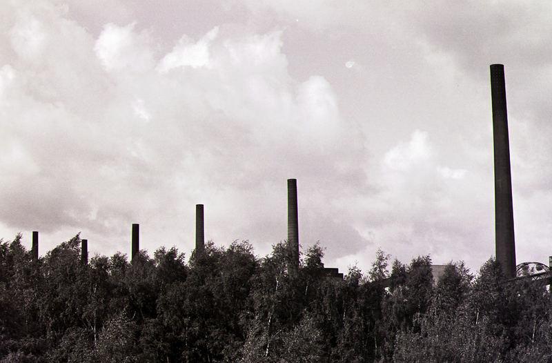 Schlote der Kokerei in der Zeche Zollverein