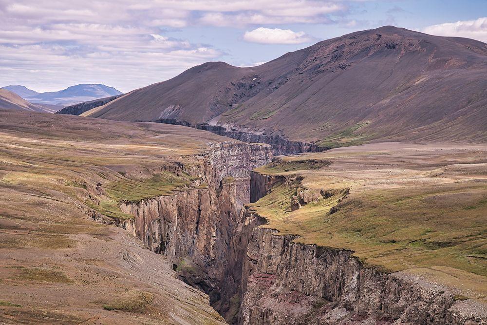 Schlucht in Island
