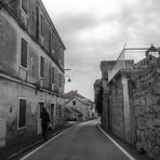 Schmale Gassen , alte Häuser