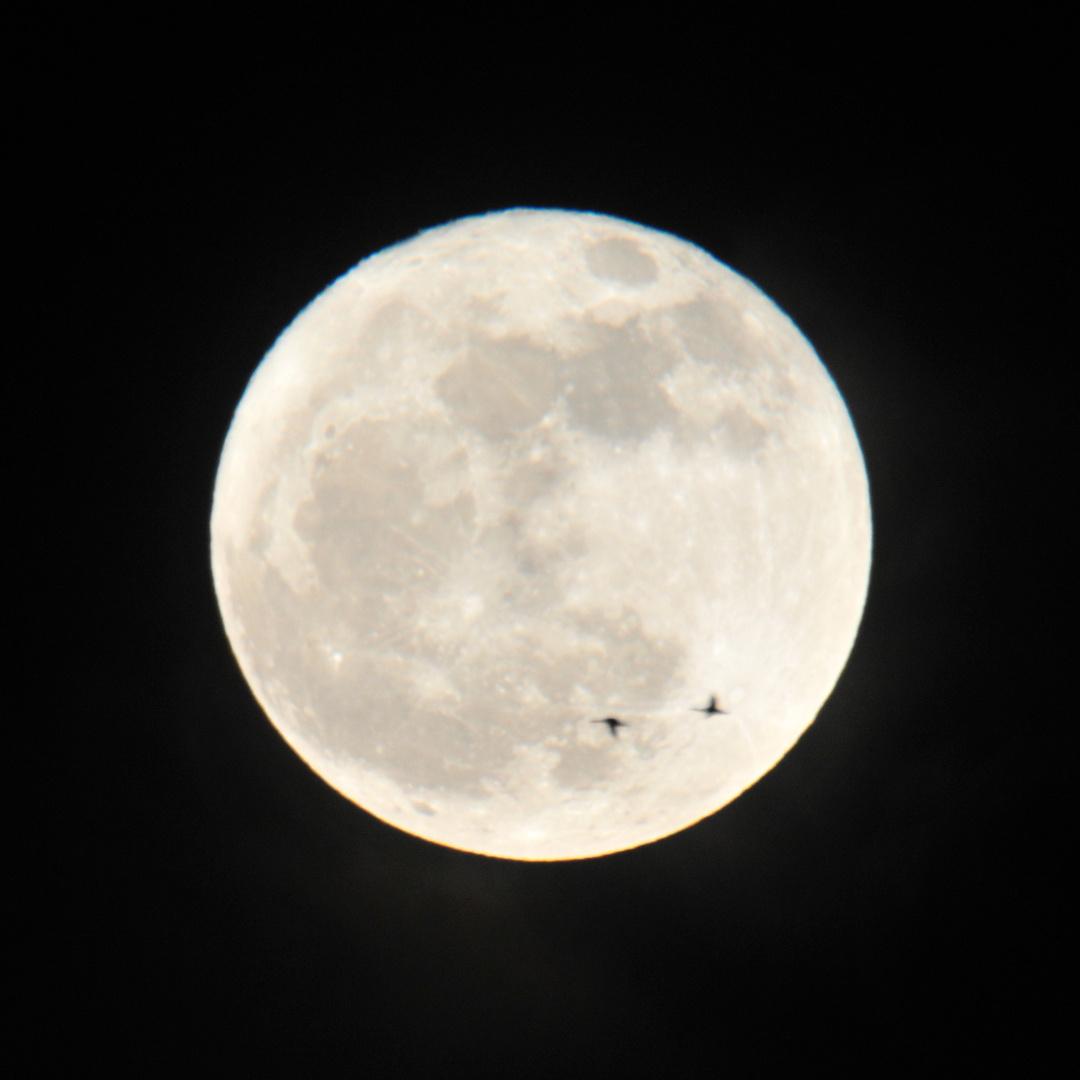Schnappschuss mit Mond