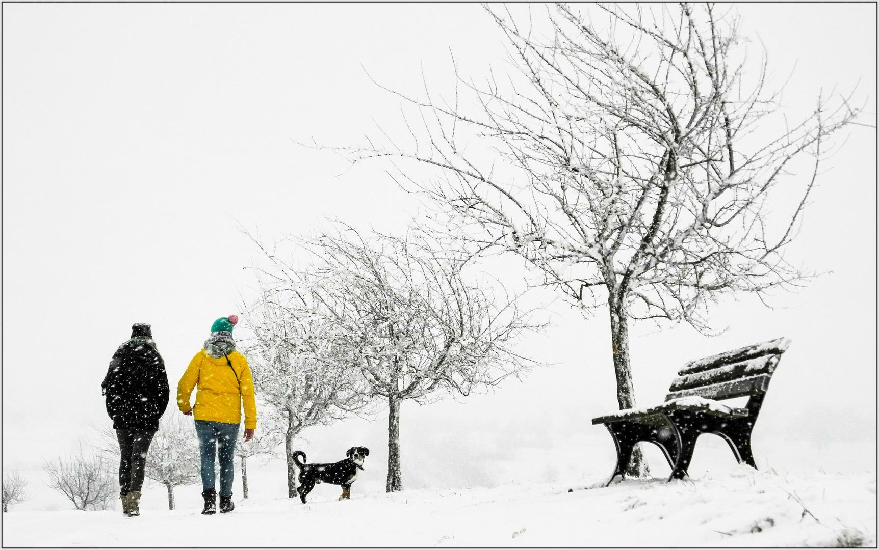 Schnee....
