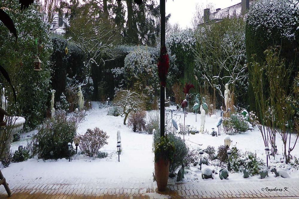 Schnee am 23.1.19 - Das war es wohl - hoffentlich - in diesem Winter