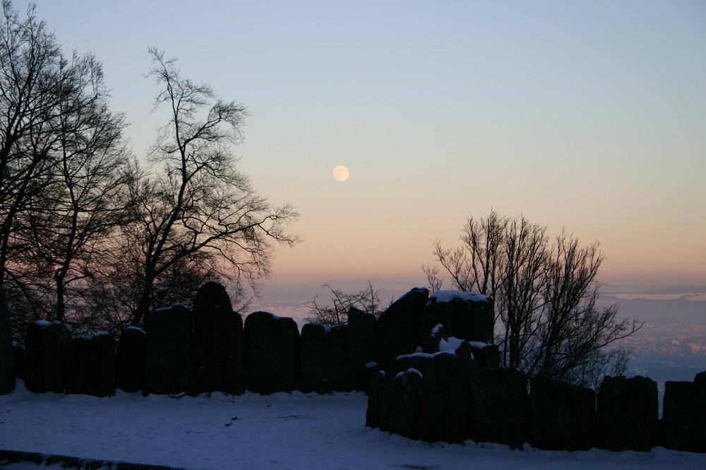 Schnee am Herkules