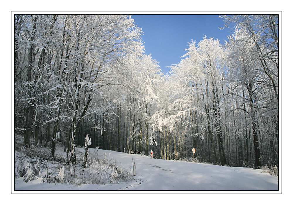 Schnee haben wir auch wieder genug :-)