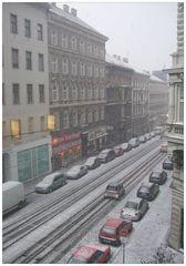 schnee im 9. bezirk!
