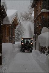 Schnee im Dorf