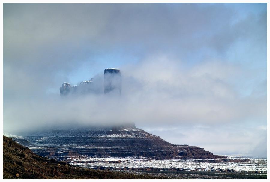 Schnee im Monument Valley...